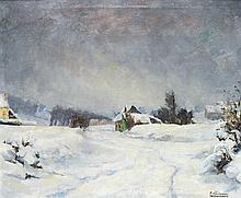 PIET VOLCKAERT (1901-1973) PAYSAGE ENNEIGE Oil on canvas