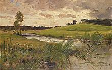 Henri Saintin (1846-1899) Paysage près du ruisseau, 1888 Oil on panel