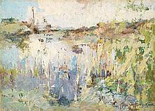 JULES MERCKAERT (1872-1924) PAYSAGE DE CAMPAGNE Oil on canvas