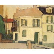 Marko Stupar (1936) Village Oil on canvas