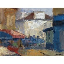 Marko Stupar (1936) Maisons Gouache on paper