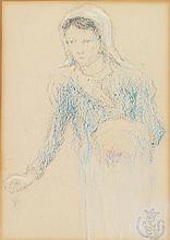 Claude Émile Schuffencker (1851-1934) Jeune bretonne Pastel on paper