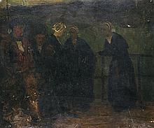 Charles Cottet ( 1863-1924) Les Bretonnes Oil on cardboard
