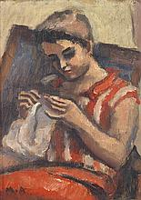 Maurice Asselin (1882-1947) Portrait de jeune femme Oil on pannel
