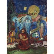 Pierre Ambrogiani (1907-1985) Rêve de Noël Oil on canvas