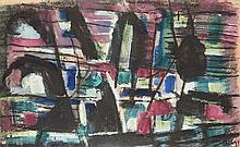 Jean René Bazaine (1904-1995) Paysage du soir, 1951