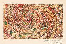 Jeanne Freundlich Kosnick-Kloss (1892-1955) Spirale au coeur tourmenté, 1948