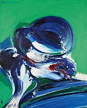 John Christoforou (1921-2014) Woman with a hat, 1968
