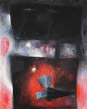 John Christoforou (1921-2014) La joueuse aux cartes