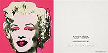 Andy WARHOL (1928-1987) Marilyn (Announcement), 1981