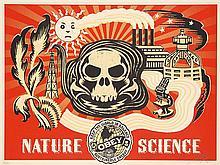 Shepard Fairey (né en 1970) Nature science (Gold), 2006