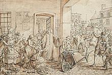 Claude Louis DESRAIS (Paris 1746 – 1816) Filles publiques chassées par ordonnance de police Drawings