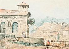 Adrien DAUZATS (1804-1868) Village des Pyrénées espagnoles Aquarelle gouachée 13 x 18cm Drawings Signé et daté de «1828» en bas à...