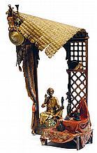 ƒÉCOLE AUTRICHIENNE BRONZE DE VIENNE (XIXe-XXe siècles). D'APRÈS FRANZ XAVIER BERGMANN (1861-1936) LE MARCHAND D'ANTIQUITÉS ÉGYPTIEN...