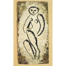 Anonyme, Huile sur panneau 46 X 23 cm