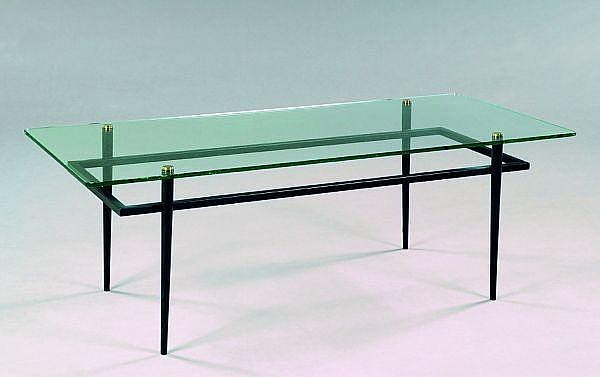 Roger le bihan diteur table basse structure m tallique - Table basse verre noir ...