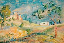 ARMAND GUILLAUMIN (1841-1927) Paysage Pastel sur papier Signé en bas à droite 30 x 43cm