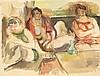 HENRI EPSTEIN (1891-1944) Scène de maison close Aquarelle et crayon sur papier Signée en bas à gauche 51 x 66cm