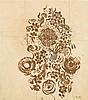 RAOUL DUFY (1877-1953) PROJET DE TISSUS POUR BIANCHINI-FERIER Crayon et gouache sur calque Porte le cachet des initiales et le tampo...