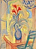Augustin FERRANDO (1880-1857) Bouquet sur une table Crayon et aquarelle sur papier Dédicacé et signé en bas à gauche 26 x 19cm