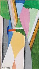 Georges Valmier (1885-1937) Forêt Gouache et encre sur papier Signée en bas à gauche 16 x 9cm