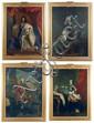 Ecole FRANCAISE vers 1770 Portrait de Louis XIV, 1643 Portrait de Louis Dauphin, 1661 Portrait de Louis XV, 1715 Portrait de Louis D...
