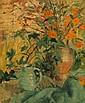 Achille Emile Othon Friesz (1879-1949) Bouquet de fleurs, 1926 Huile sur carton Signée en bas à gauche Contresignée et certifiée au ...