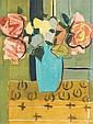 Louis Latapie (1891-1971) Vase avec des fleurs Aquarelle et crayon sur papier Signée en bas à droite 20 x 16 cm