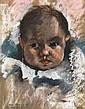 PAUL ELIE GERNEZ (1888-1948) Marie Thérèse à 5 mois Pastel sur papier Signé, titré et daté