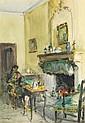 Louis Agricol MONTAGNÉ (1879-1960) Maternité dans un intérieur Aquarelle sur papier Signée en bas à gauche 45 x 31 cm