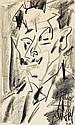 GEN PAUL (1895-1975) Portrait d'homme, 1960 Fusain sur papier Dédicacé, signé et daté