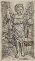 ALBRECHT ALTDORFER LE CHRIST ENFANT SUR L'ARC-EN-CIEL (Hollstein 11) 73 x 43
