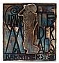 Franz Karl DELAVILLA (1884-1967) & WIENER WERKSTäTTE Plaque en métal argenté, circa 1908, représentant en relief une silhouette de f...
