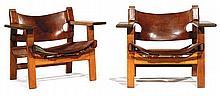 BØRGE MOGENSEN (1914-1972) & FREDERICIA (ÉDITEUR) Paire de fauteuils
