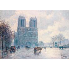 Henri Malfroy dit Henri Malfrou-Savigny (1895-1944) Vue de Notre Dame de Paris, 1919