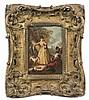 Charles PARROCEL (1688 – 1752) La halte des chasseurs Papier marouflé sur toile 23,5 x 17, 5 cm