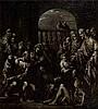 Attribué à Gian Antonio GUARDI (Vienne 1699 – Venise 1761) La piscine probatique, grisaille Toile 39,5 x 35 cm