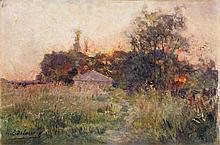 Henri Edmond Cross (Delacroix) (1856-1910) Paysage, 1882-1883 Huile sur toile Signée en bas à gauche