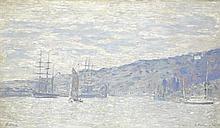 ƒ Paul-César Helleu (1859-1927) LA MAISON DE FLAUBERT À CROISSET Huile sur toile Signée en bas à gauche Titrée en bas à droite  Oil ...