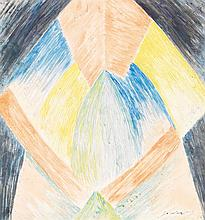 LÉOPOLD SURVAGE (1879-1968) Rythme coloré, 1912 Aquarelle sur papier Signée et datée