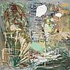 Per Kirkeby (Né en 1938) Slanger i tørt græs og ruiner, 1967-1977 Huile sur Masonite Signée, datée et titrée au dos  Oil on Masonite...