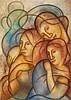 Manuel Rendón (1894-1980) La Famille vers 1930 Huile sur toile Signée en bas à gauche  Oil on canvas Signed lower left 54,5 x 73,5c...