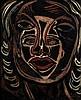 Francis Picabia (1879-1953) Les deux masques, 1938 Huile sur carton marouflé sur panneau Signée en bas à droite 50 x 57cm -19 11/16...