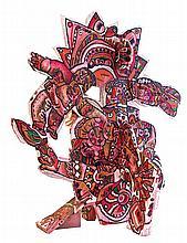 Théo Tobiasse (1927-2012) Exodus Signée et titrée au milieu Sculpture en bois peint  Painted wood sculpture 225 x 180cm - 88 5/8 x ...