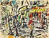 Gen Paul (1895-1975) Montmartre, la Place du Tertre, vers 1970 Gouache sur papier marouflé sur panneau Signée en bas à droite  Gouac...