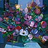 Camille Hilaire (1916-2004) Fleurs du jardin Huile sur toile Signée en bas à droite  Oil on canvas Signed lower right 80 x 80cm - 3...