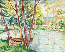ƒHenri Charles Manguin (1874-1949) Oil on canvas Signed lower left  - 15 1/8 x 18 1/8 in