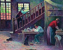 MAXIMILIEN LUCE (1858-1941) Oil on canvas Signed lower left Numbered 5315 and 27 on the back  - 21 1/4 x 25 5/8 ine...