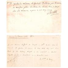 [Comtesse du BARRY]. Marie-Jeanne dite Rose BERTIN. 1747-1813. Marchande de mode proche de Marie-Antoinette.