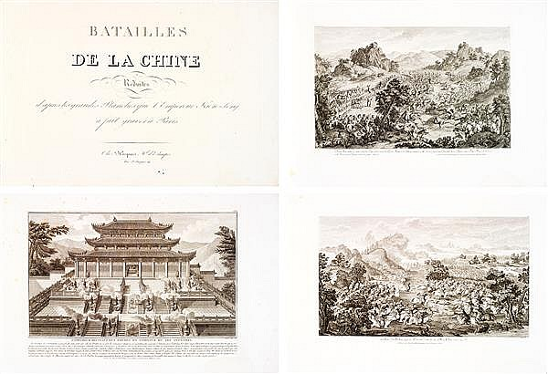 ISIDORE-STANISLAS HELMAN (1743-1806) BATAILLES DE LA CHINE RÉDUITES D'APRÈS LES GRANDES PLANCHES QUE L'EMPEREUR KIEN-LONG A FAIT GRA...